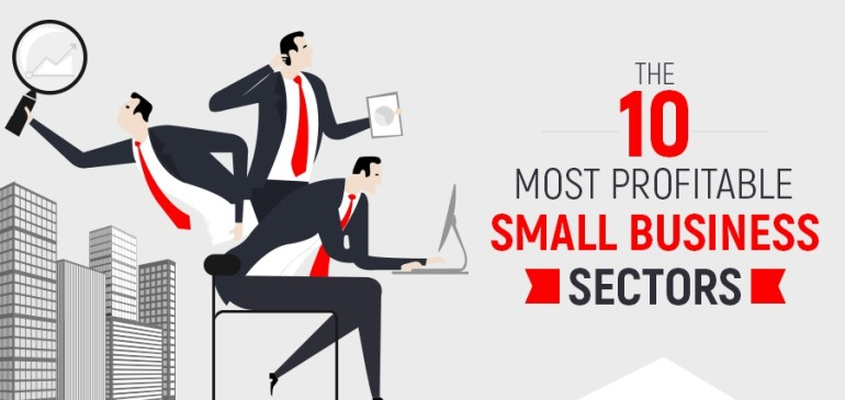 The 10 Most Profitable Small Business Sectors – Infographic